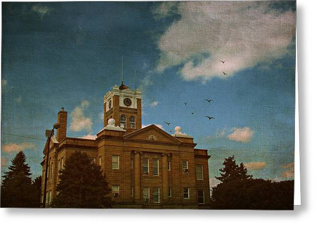 Courthouse Greeting Card by Cassie Peters