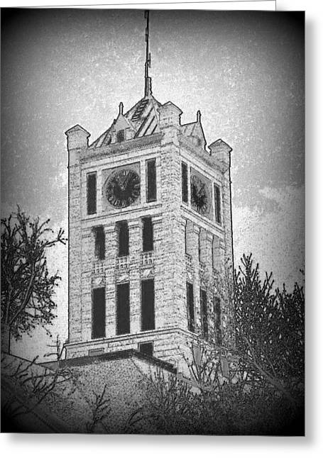 Courthouse Clocktower 5 Greeting Card