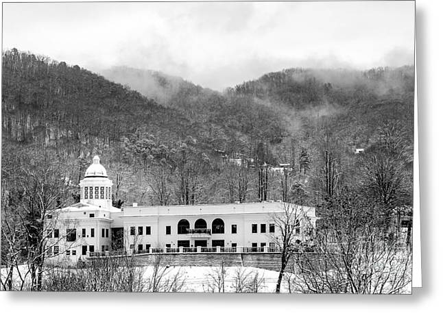 Courthouse Snow 2014 Greeting Card by Matthew Turlington