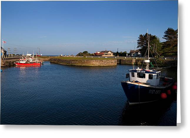 Courtown Fishing Harbour, Near Gorey Greeting Card