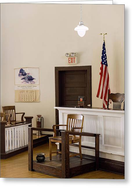 Courtroom Of The Old Monroe County Greeting Card by Panoramic Images