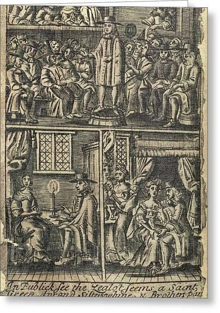 Courtship,17th Century Artwork Greeting Card