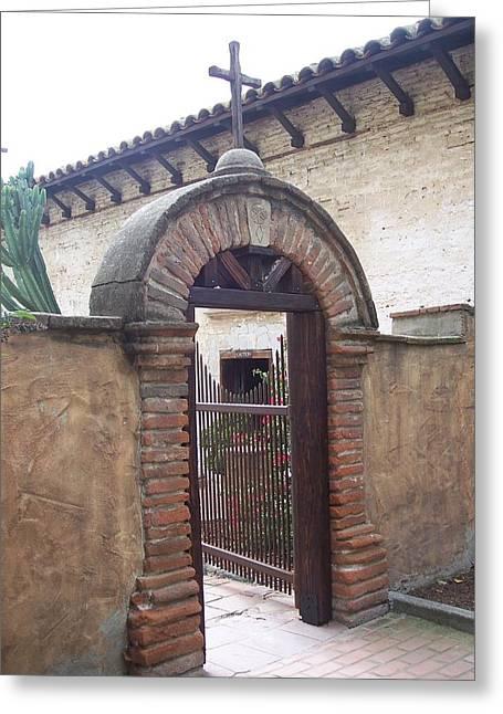 Courtyard Gateway Greeting Card