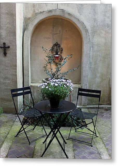 Courtyard Haven Greeting Card