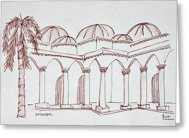 Courtyard In The Topkapi Palace Greeting Card