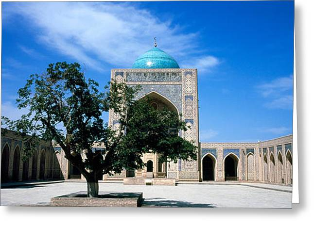 Courtyard Of A Mosque, Kalon Mosque Greeting Card by Panoramic Images