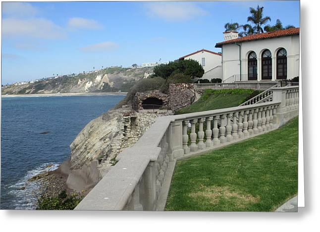 Courtyard On The Cliffs Greeting Card by Vivien Rhyan