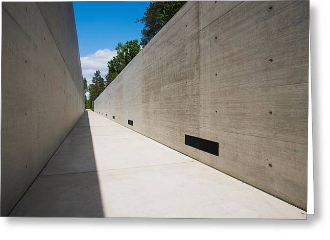 Courtyard To Bergen-belsen Ww2 Greeting Card by Panoramic Images