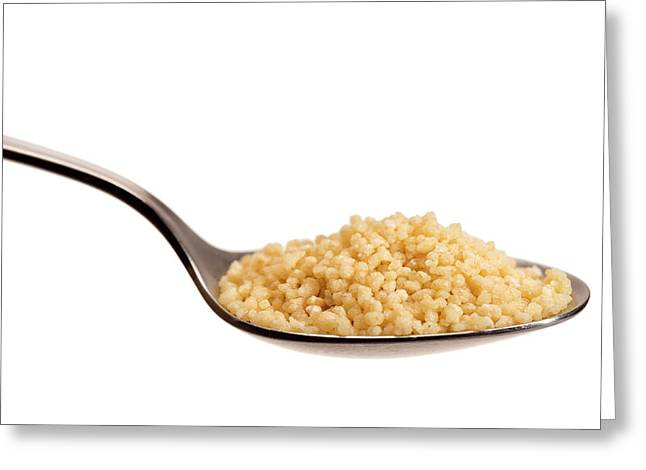 Couscous On A Spoon Greeting Card by Daniel Sambraus