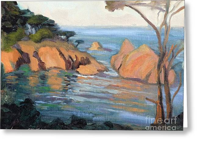 Cove At Point Lobos California Greeting Card by Suzanne Elliott