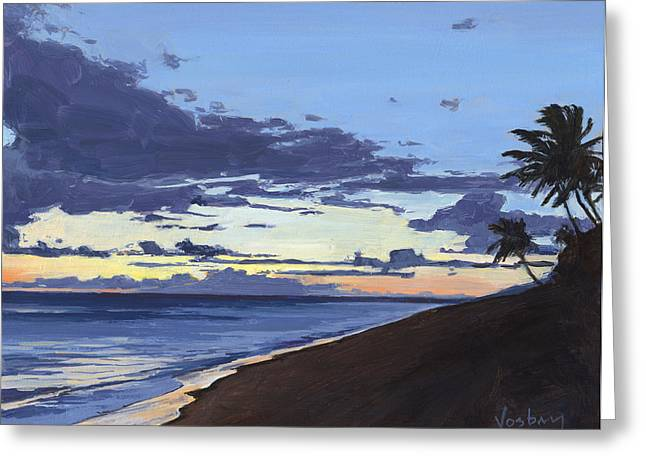 Cove Park Sunset Greeting Card