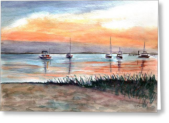 Cove Sunrise Greeting Card