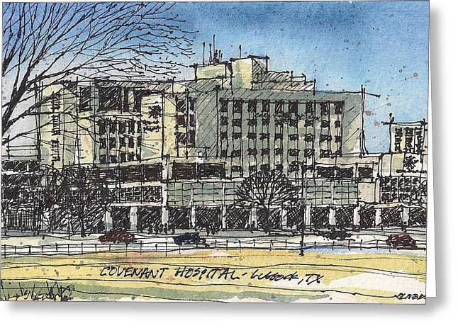 Covenant Hospital Greeting Card by Tim Oliver