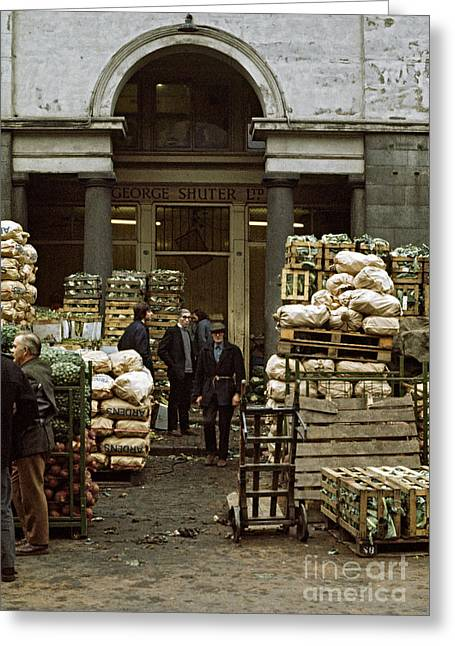 Covent Garden Market London 1973 Greeting Card by David Davies