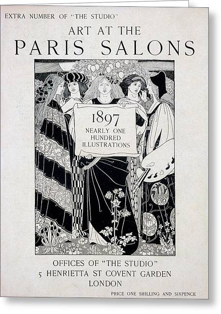 Cover For Art At The Paris Salons Greeting Card