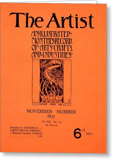 Cover For The Artist Magazine, November 1897 Greeting Card by English School