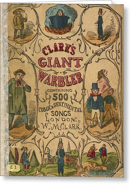 Cover Of A Song Book Greeting Card by British Library
