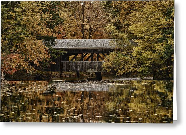 Greeting Card featuring the photograph Covered Bridge At Sturbridge Village by Jeff Folger