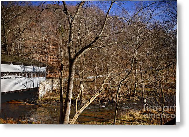 Covered Bridge At Valley Forge Greeting Card