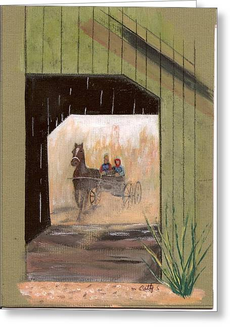 Covered Bridge Greeting Card by Catherine Swerediuk