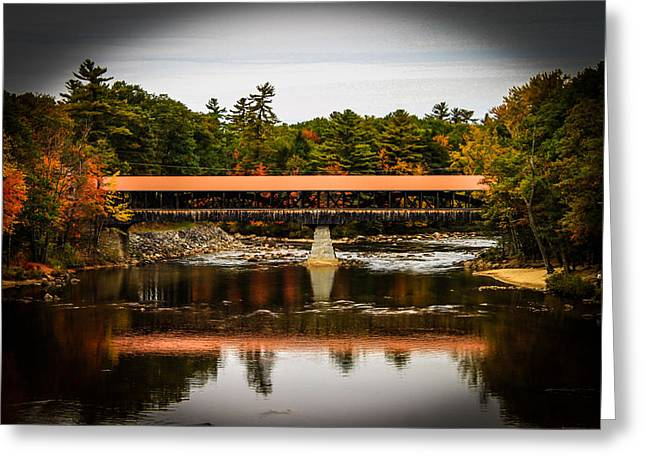 Covered Bridge Conway New Hampshire Greeting Card by Michael Donovan