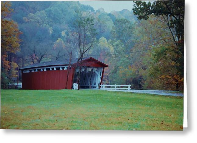 Greeting Card featuring the photograph Covered Bridge by Diane Alexander