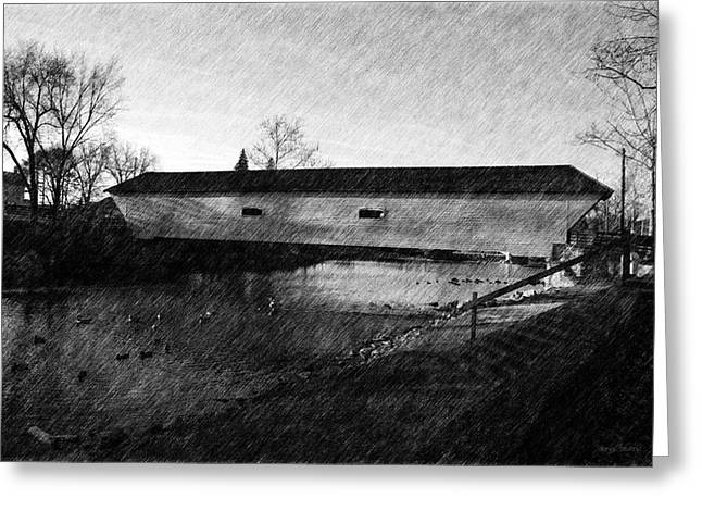 Covered Bridge Elizabethton Tennessee C. 1882 Greeting Card