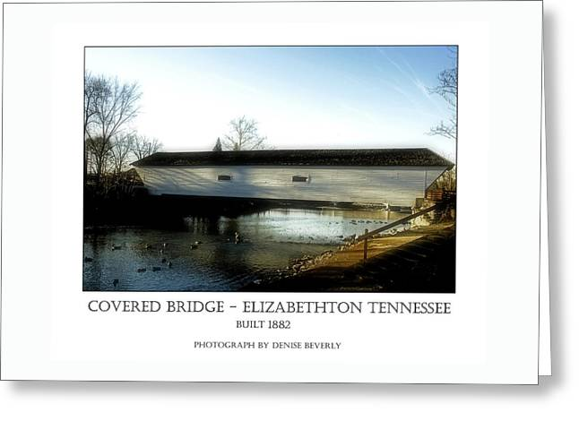 Covered Bridge - Elizabethton Tennessee Greeting Card