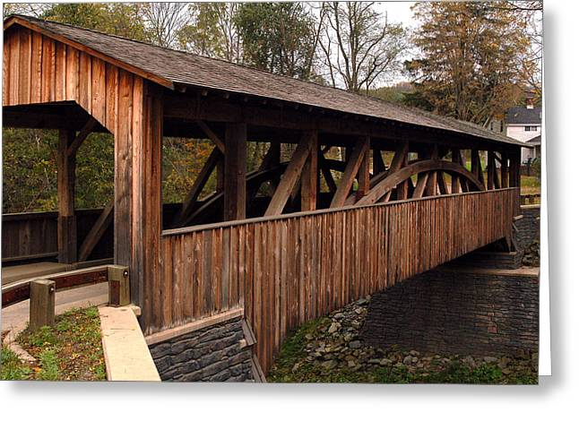 Covered Bridge Greeting Card by Gary Wightman