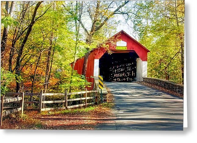 Covered Bridge In Bucks County Greeting Card