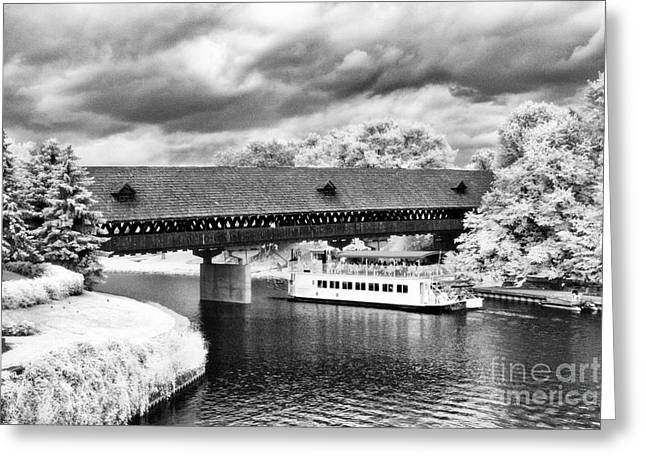 Covered Bridge In Frankenmuth Greeting Card by Jeff Holbrook