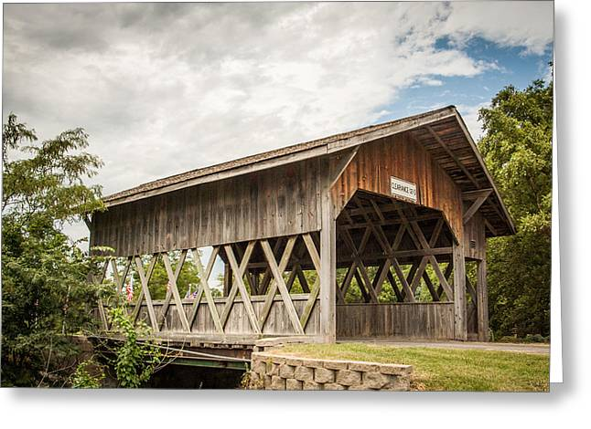 Covered Bridge In Nebraska Greeting Card