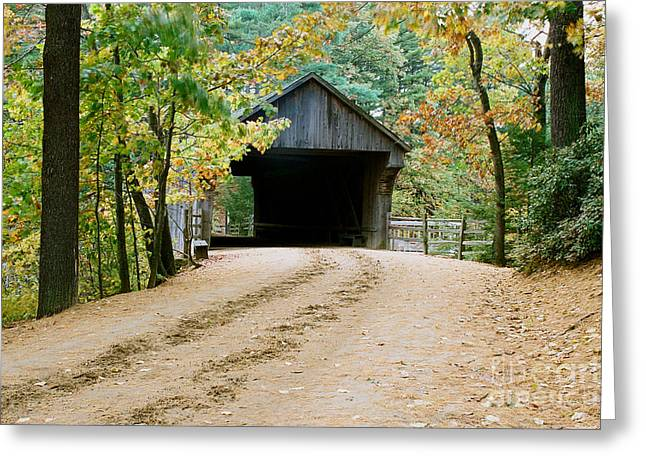 Greeting Card featuring the photograph Covered Bridge In October by Vinnie Oakes