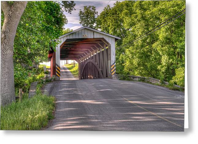 Greeting Card featuring the photograph Covered Bridge by Jim Thompson