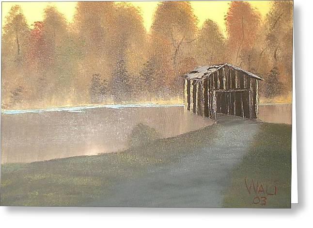 Covered Bridge Greeting Card by James Waligora