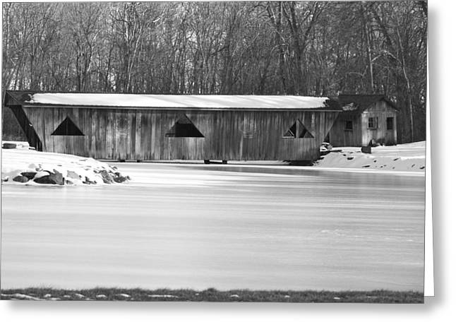 Covered Bridge Greeting Card by Jennifer  King