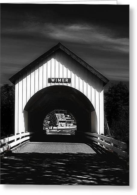 Covered Bridge Greeting Card by Melanie Lankford Photography