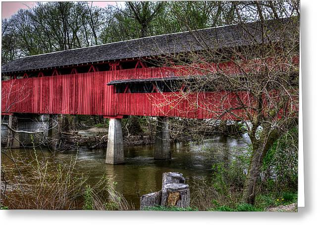 Greeting Card featuring the photograph Covered Bridge by Michael Colgate