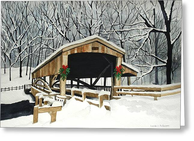 Covered Bridge - Mill Creek Park Greeting Card