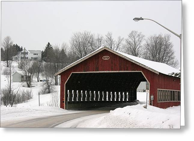 Greeting Card featuring the photograph Covered Bridge Muskoka by Paula Brown