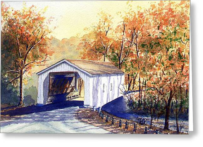 Covered Bridge On The Lochatong Greeting Card