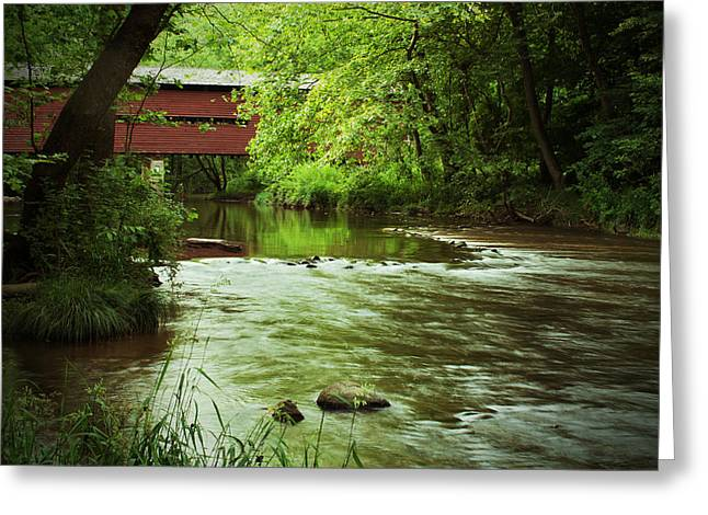 Covered Bridge Over French Creek Greeting Card