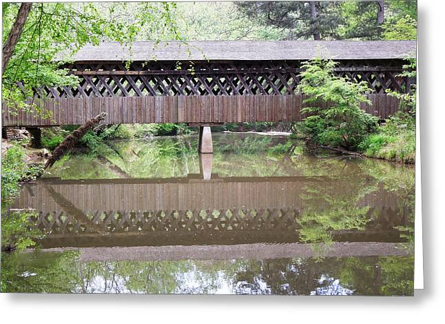Covered Bridge Greeting Card by Pete Trenholm