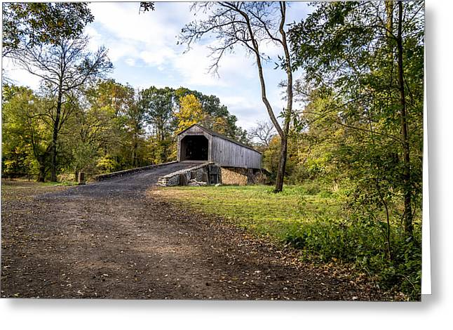 Greeting Card featuring the photograph Covered Bridge by Phil Abrams