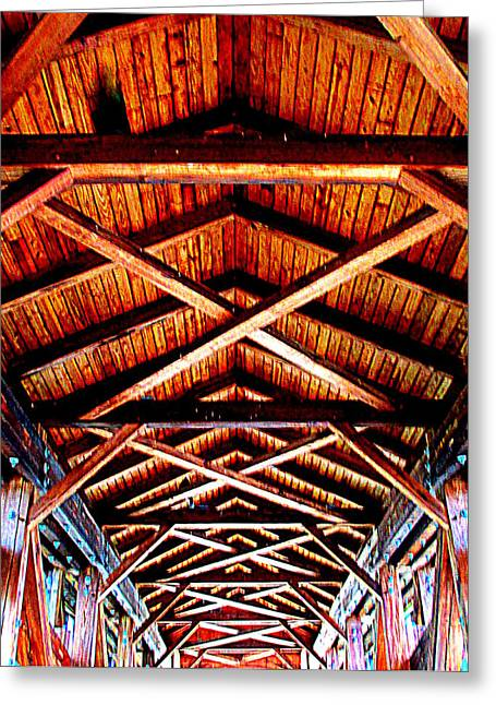 Covered Bridge Structure Greeting Card