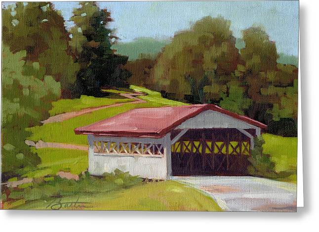 Covered Bridge Greeting Card by Todd Baxter
