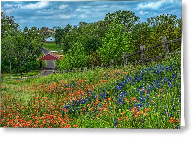 Covered Bridge Greeting Card by Tom Weisbrook