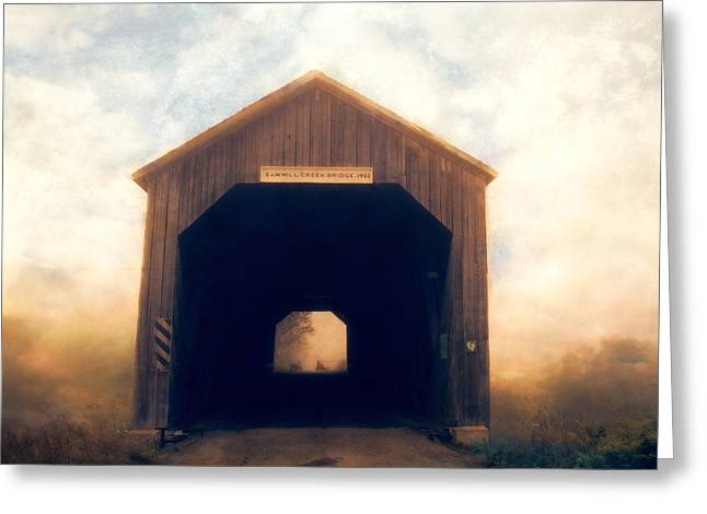 Covered Bridge Greeting Card by Tracy Munson