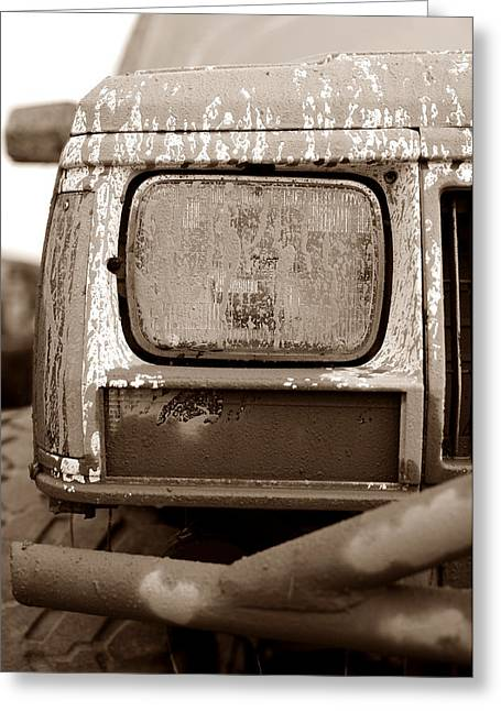 Covered In Mud Greeting Card