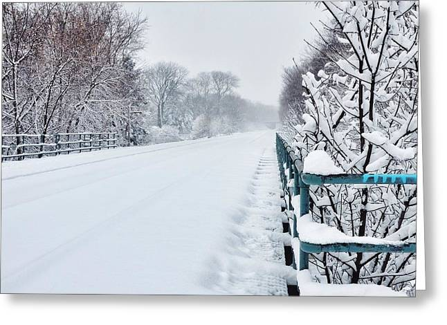 Covered Tracks Greeting Card